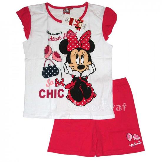 Minnie Egeres nyári pizsama vagy együttes fehér