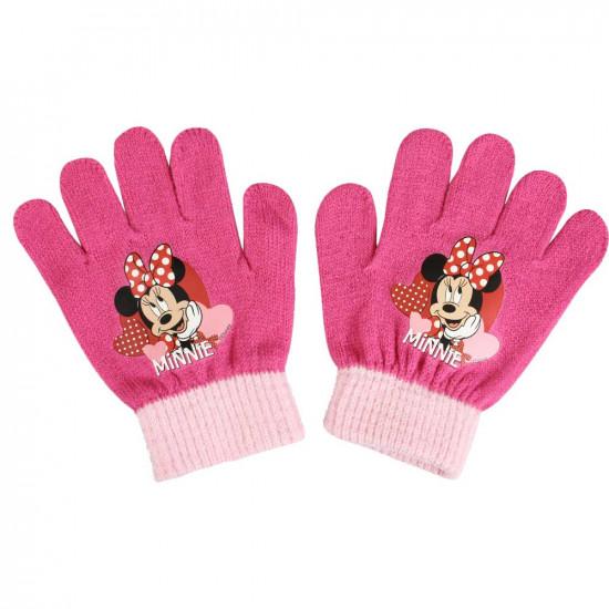 Minnie kötött kesztyű rózsaszín