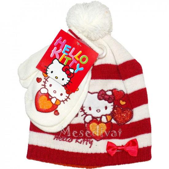 Hello Kittys baba sapka kesztyűvel