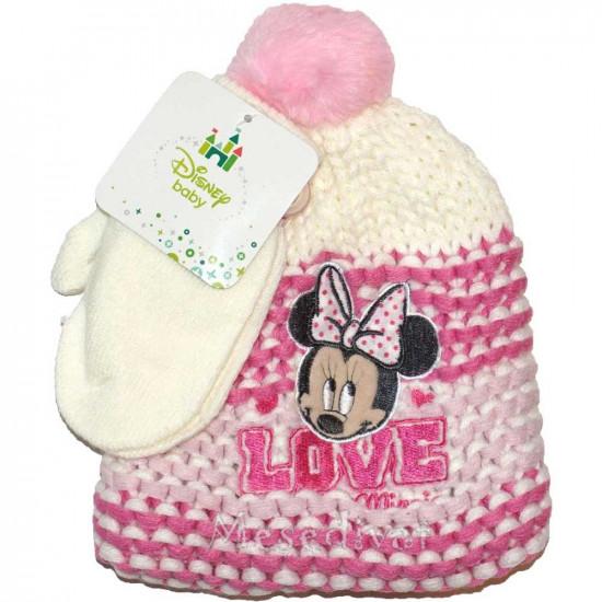Minnie Egeres baba sapka kesztyűvel