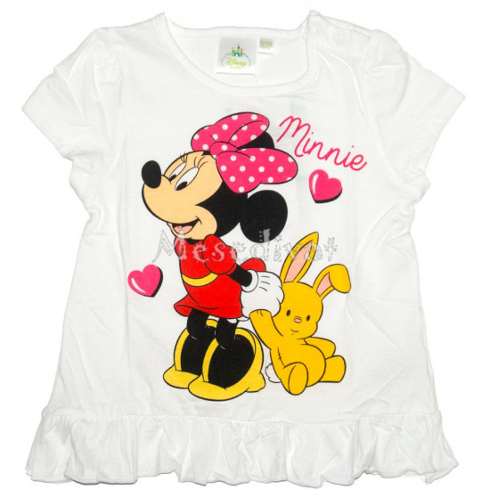 Minnie Egeres bébi póló fehér