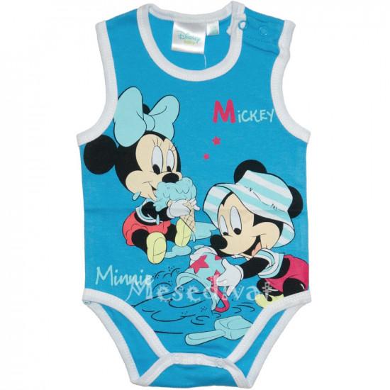 Mickey és Minnie Egeres bébi body kék