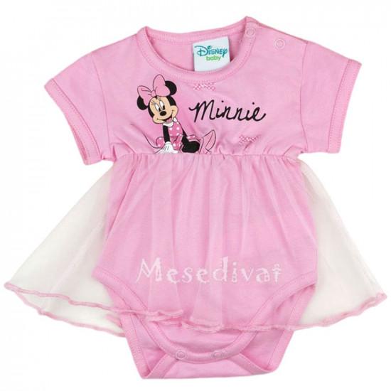 Minnie Egeres tüllszoknyás body kombidressz rózsaszín
