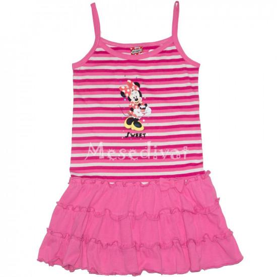 Minnies kislány ruha csíkos rózsaszín