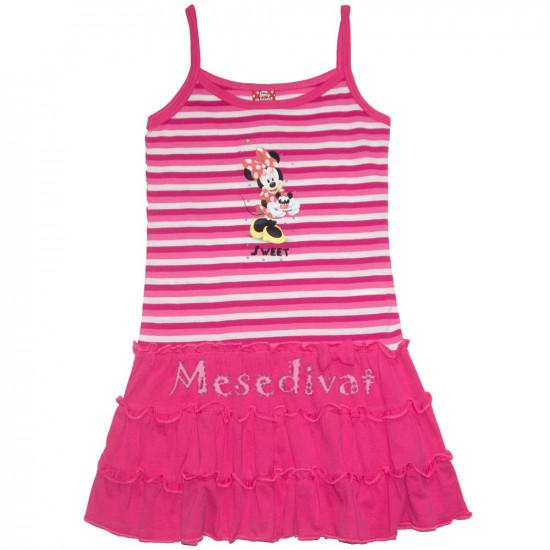 Minnies kislány ruha csíkos pink