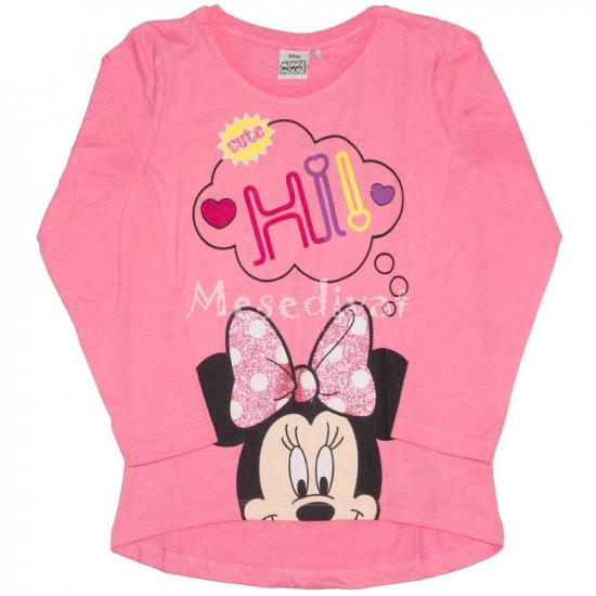 Minnie Mouse hosszúujjú felső rózsaszín színben
