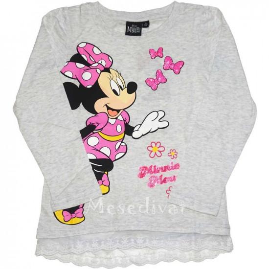 Minnie Mouse hosszúujjú póló szürke