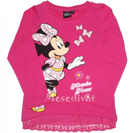Minnie Egeres hosszúujjú póló pink 98-134