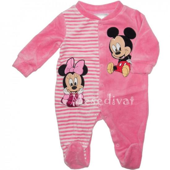 Minnie és Mickey Egeres plüss rugdalózó rózsaszín