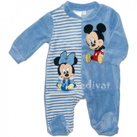 Minnie és Mickey Egeres plüss rugdalózó kék