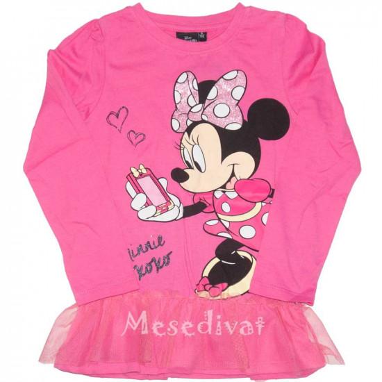 Minnies hosszúujjú póló tüllel díszítve rózsaszín