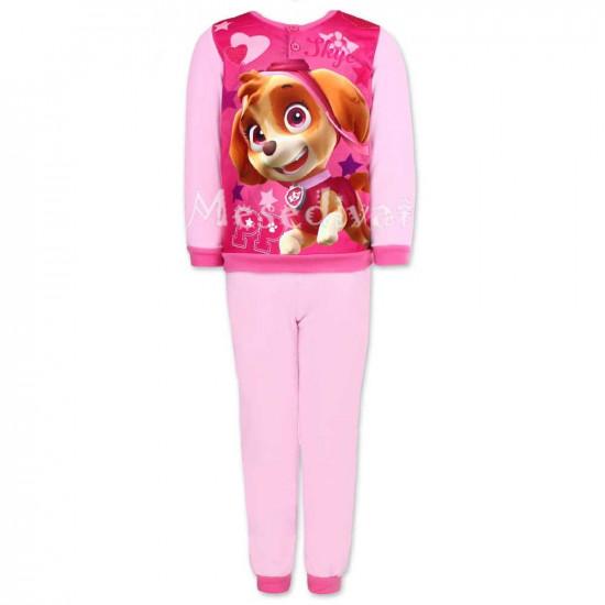 Mancs Őrjárat polár pizsama rózsaszín