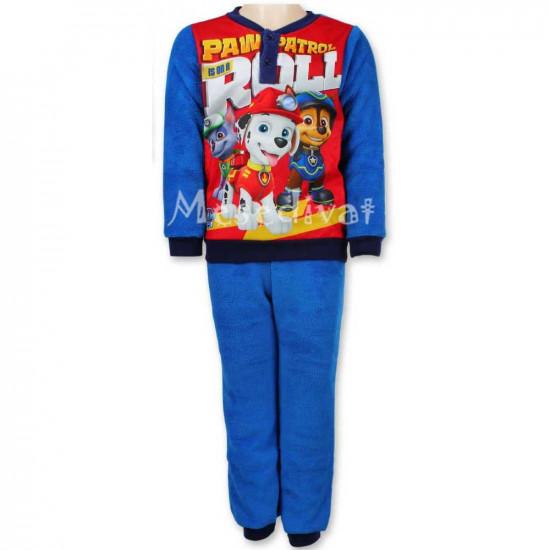 Mancs Őrjárat polár pizsama kisfiúknak kék