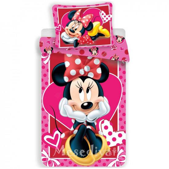 Minnie Mouse szivecskés ágyneműhuzat