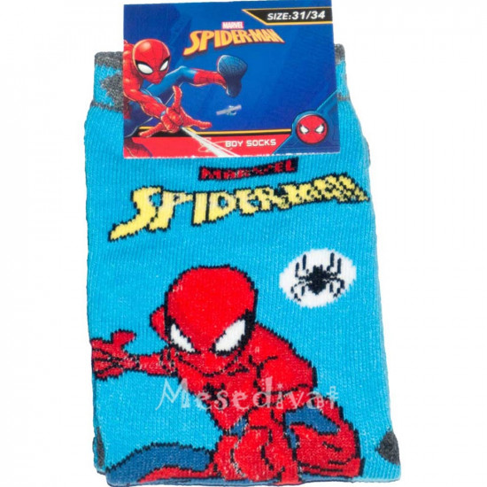 Pókemberes zokni kék