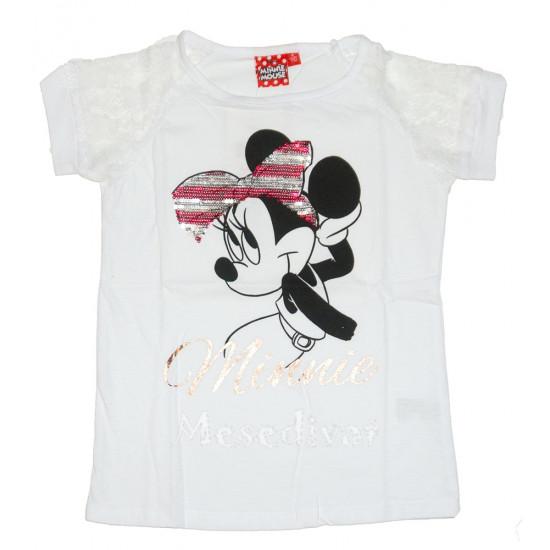 Minnie Egeres flitteres póló fehér