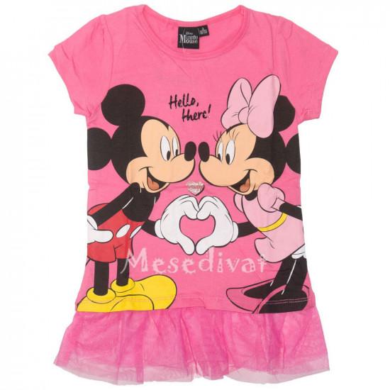 Minnie Egeres tüllös rövidujjú póló pink