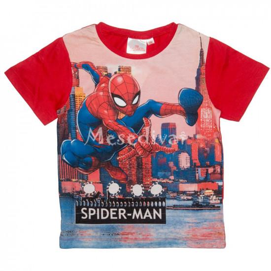 Pókemberes rövidujjú póló piros