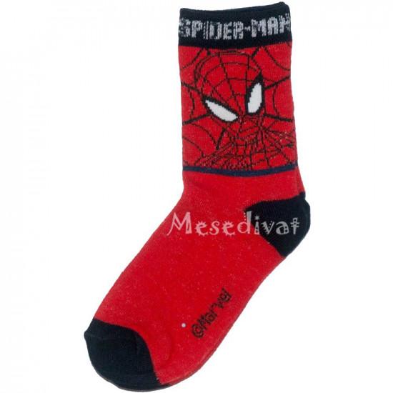 Pókember zokni 23-34 piros