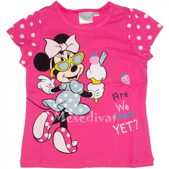 Minnie Egér bébi póló pink