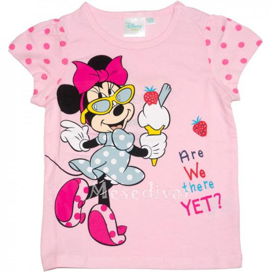 Minnie Mouse bébi póló rózsaszín