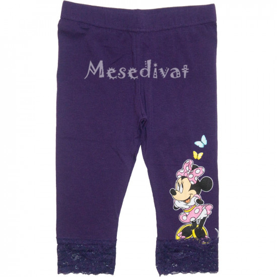 Minnie Mouse térdleggings lila