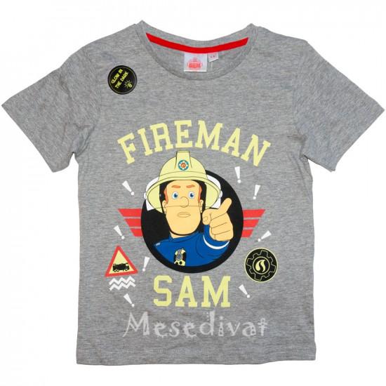 Sam a tűzoltó sötétben világító póló szürke
