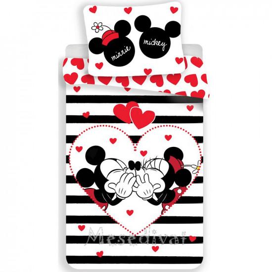 Mickey és Minnie Mouse szerelmes ágynemű