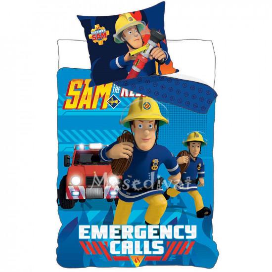 Gyerek ágyneműhuzat Sam a tűzoltó