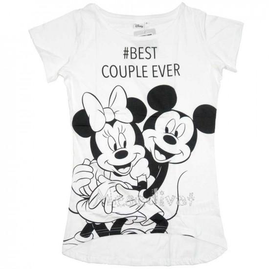 Minnie és Mickey Mouse női póló fehér