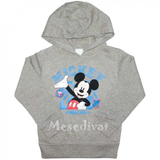 Mickey Egeres kapucnis pulóver szürke