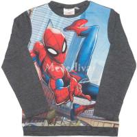 Pókember Spiderman hosszúujjú felső szürke