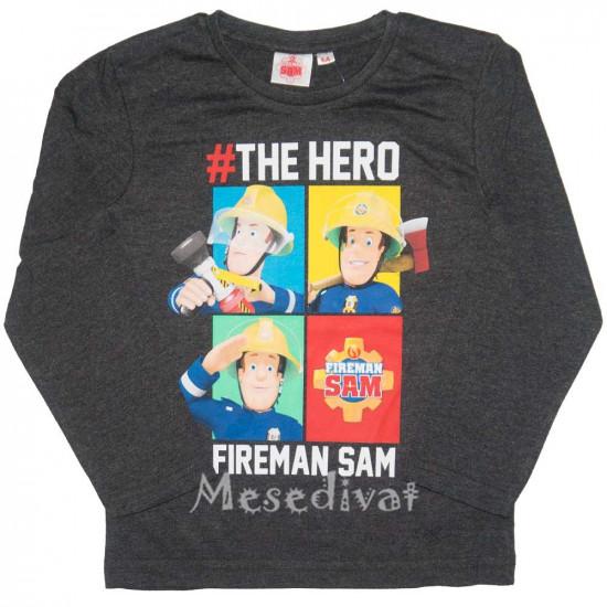 Sam a tűzoltó hosszúujjú póló sötétszürke