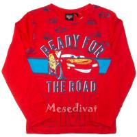 Verdás hosszúujjú póló piros 98-128