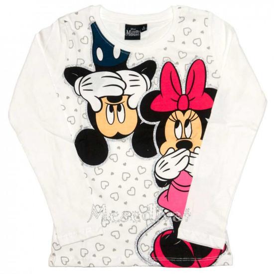 Minnie és Mickey Egeres hosszúujjú póló fehér