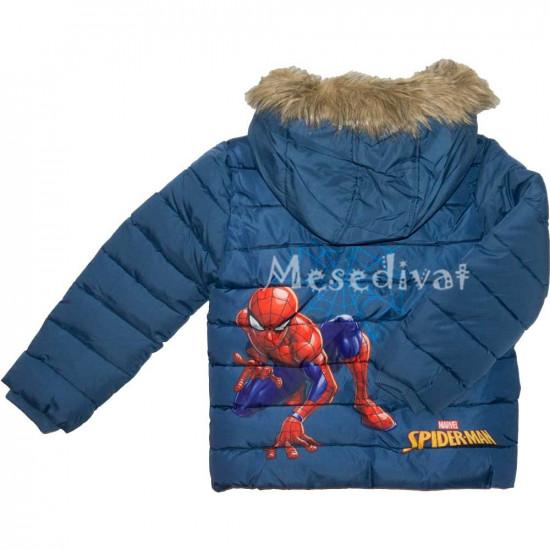 Pókember Kék Fiú Téli Kabát