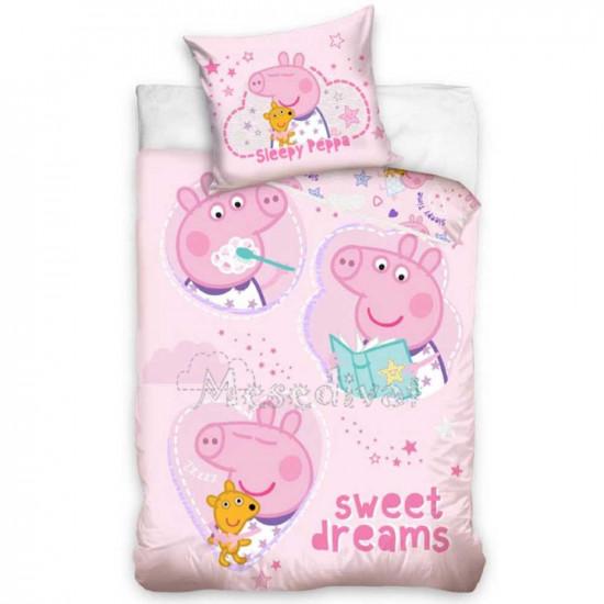 Peppa Malac ágyneműhuzat garnitúra rózsaszín