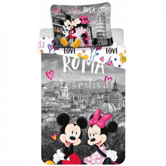 Minnie és Mickey Egeres ágyneműhuzat Róma