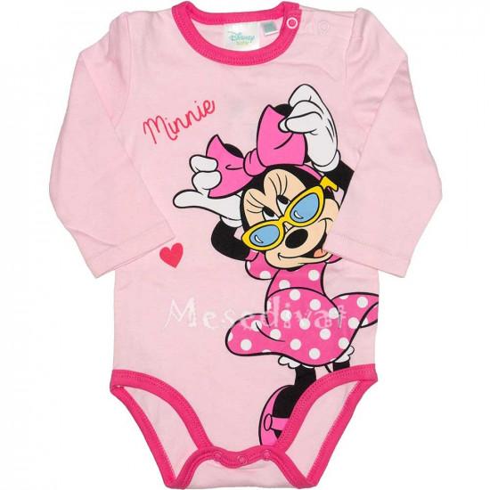 Minnie Mouse hosszúujjú kombidressz rózsaszín