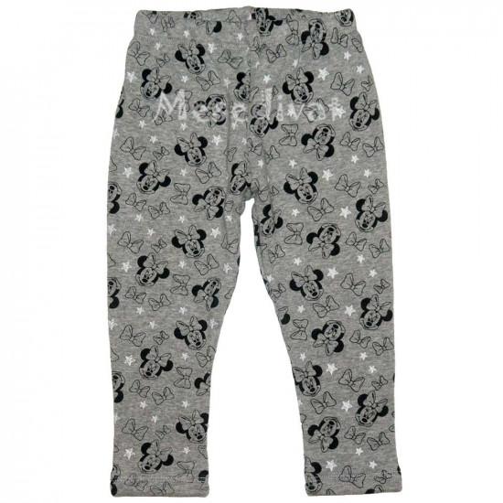 Minnie Egeres bébi téli vastag leggings szürke
