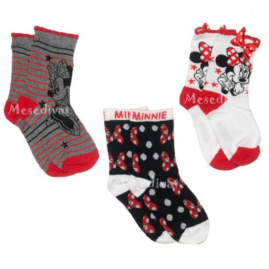 Minnie Egeres 3 darabos zoknicsomag