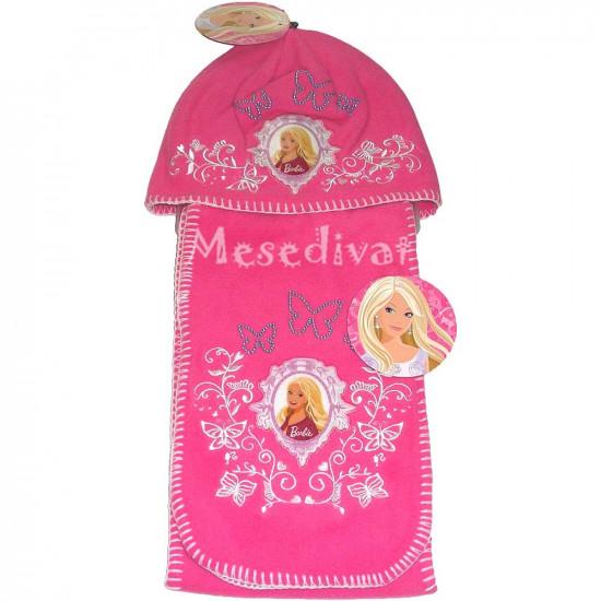 Barbie sapka sál szett rózsaszín