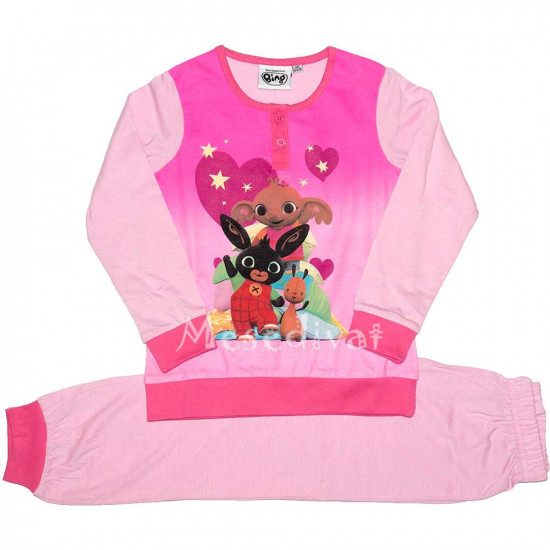 Bing nyuszis pamut pizsama rózsaszín