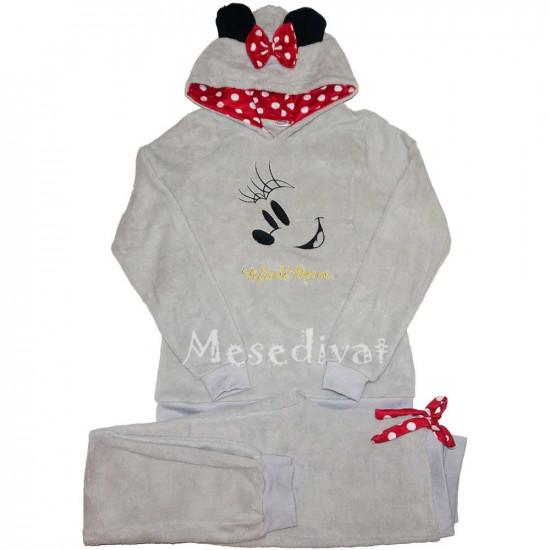 Minnie Egeres női wellsoft pizsama szürke