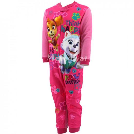 Mancs Őrjárat polár kezeslábas pizsama rózsaszín