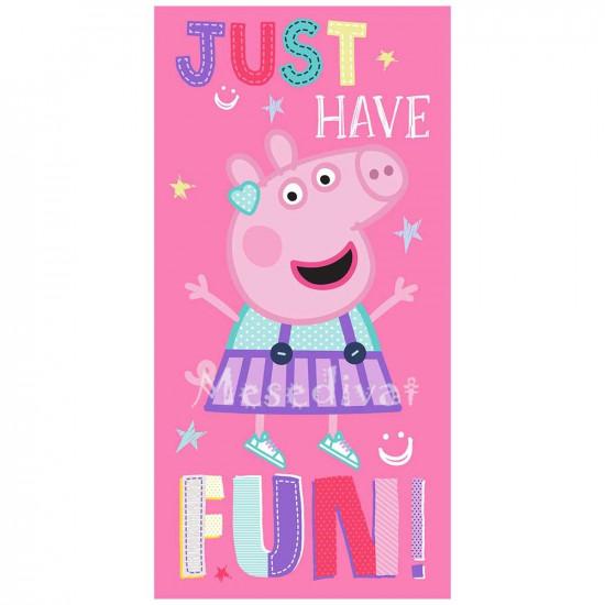 Peppa Malac törölköző fürdőlepedő rózsaszín