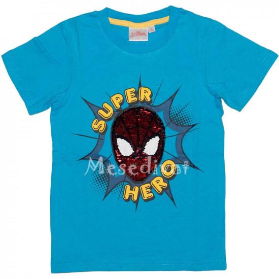 Pókember Spiderman simogatós póló