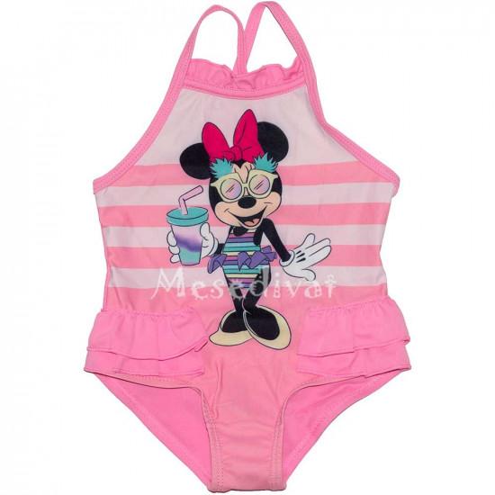 Minnies csíkos baba fürdőruha rózsaszín