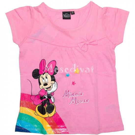 Minnie Egeres szivárványos póló rózsaszín