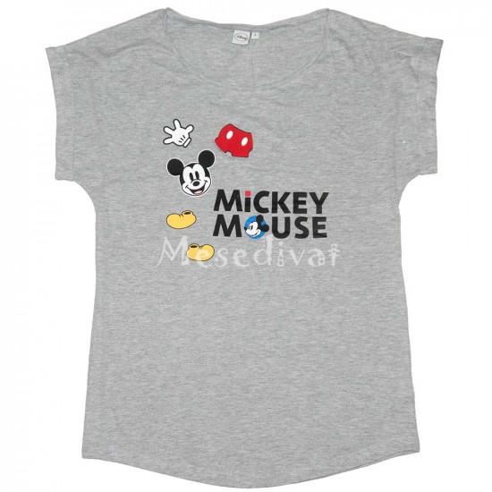 Mickey Egér felnőtt női póló szürke